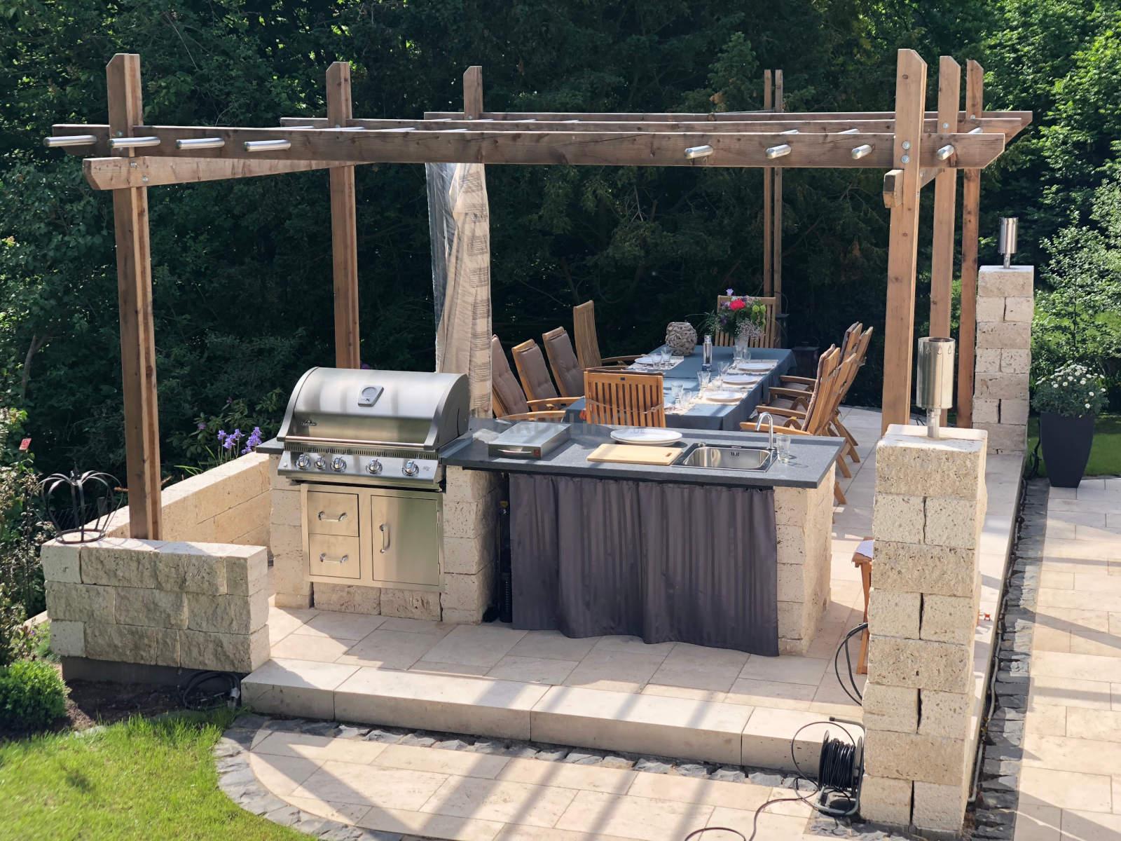Steine Für Außenküche : ▷ ideen für outdoor küche einrichtung und gestaltung