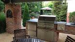 Outdoorküche aus Klinker mit Lynx Grill (ID:070)