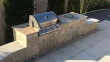 Individualbau Outdoor Küche aus Stein (ID:093)