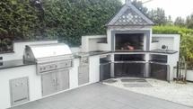 Außenküche mit Grill und Pizzaofen (ID:095)