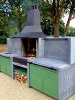 Individuelle Outdoor Küche von Kaufmann Green (ID:118)
