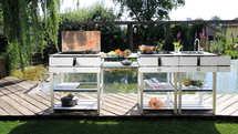 OCQ Outdoor Küche mit Plancha Grill (g-122)