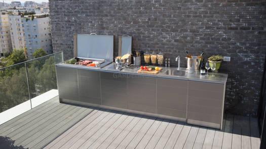 Outdoor Küche mit Plancha Grill (ID:146)