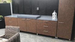 Moderne Outdoor Küche mit Plancha Grill (ID:175)