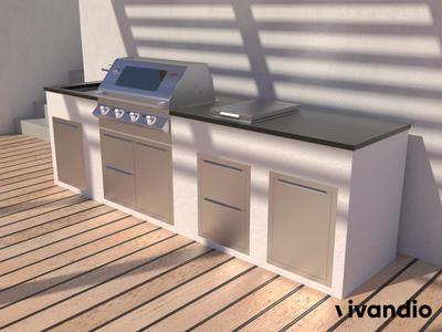vivandio Einbautüren- und Schubladen für die Outdoor Küche