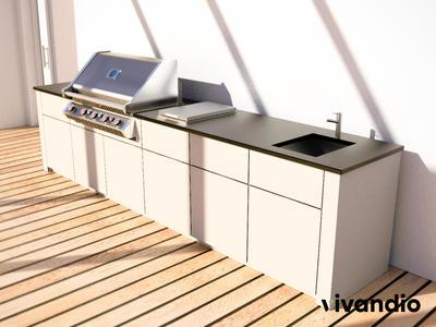 Modulare System Outdoor Küche von vivandio