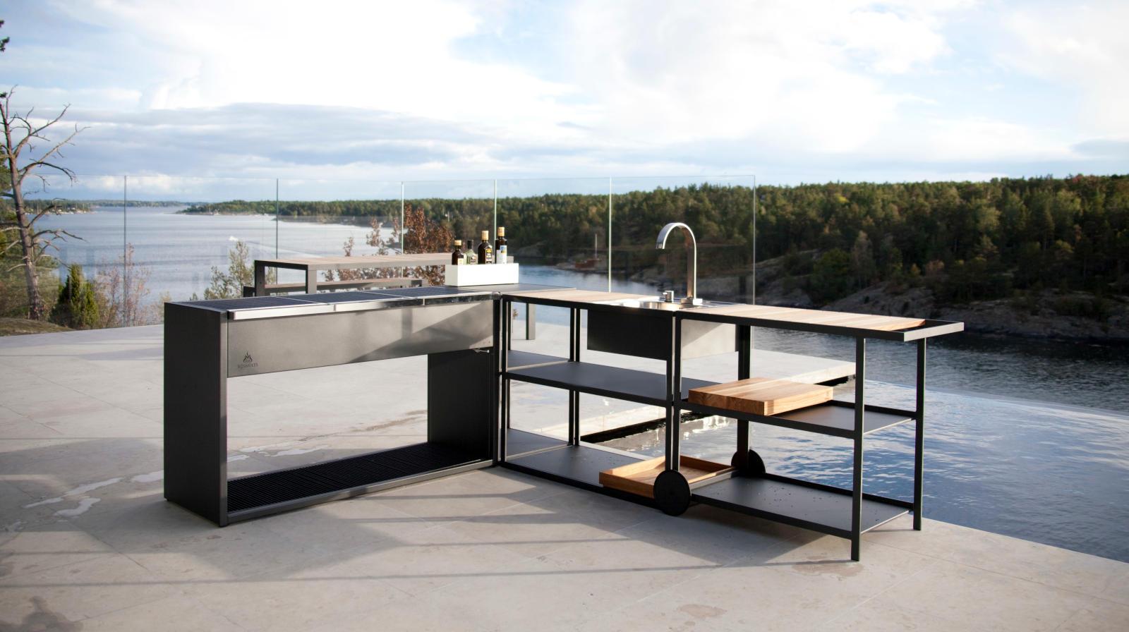 Outdoor Küche Module : Modul outdoor küche für den garten und die terrasse
