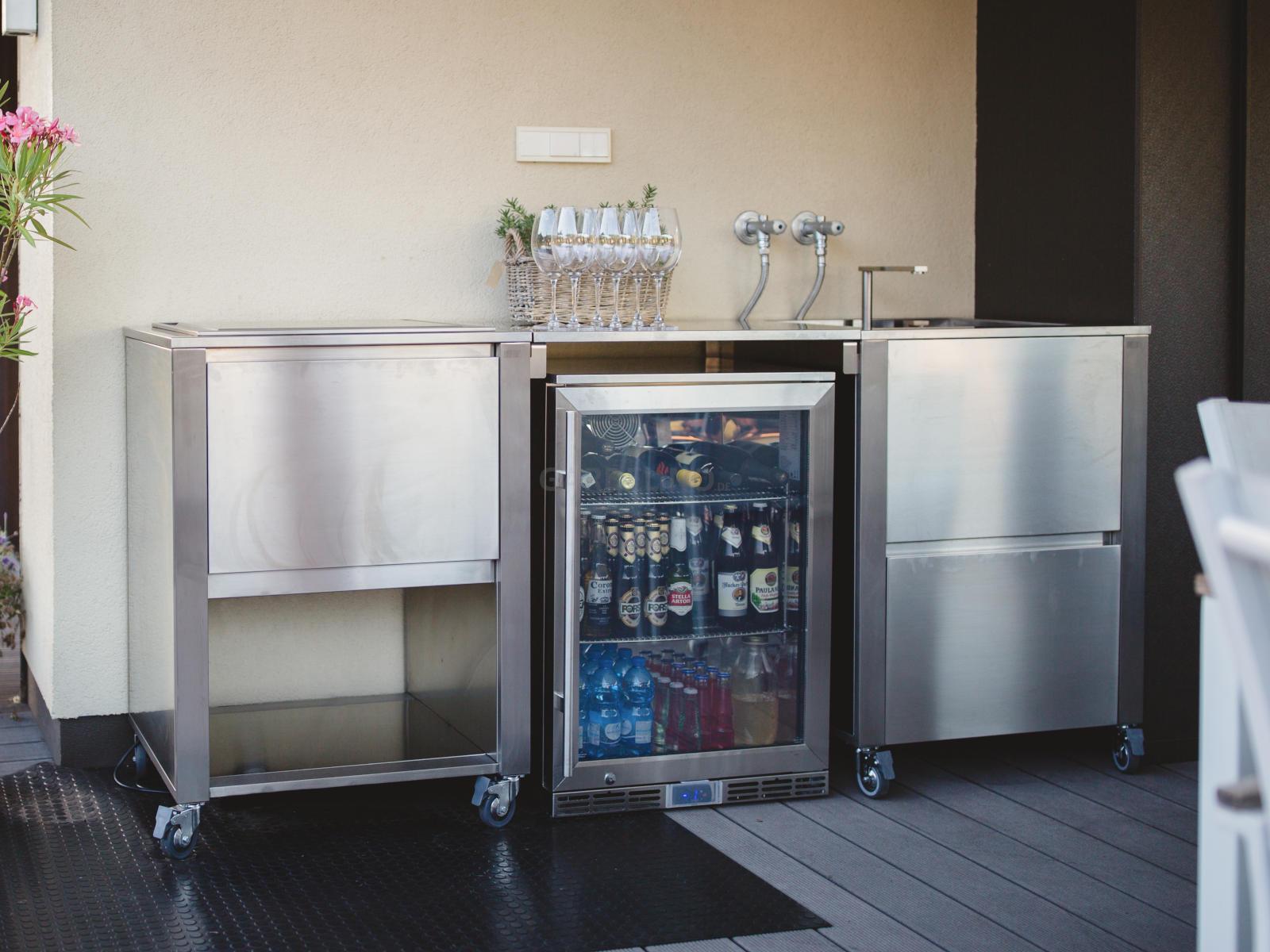 Kleiner Kühlschrank Edelstahl : Kühlschrank für die outdoor küche und den garten