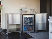 Outdoor Kühlschrank aus Edelstahl