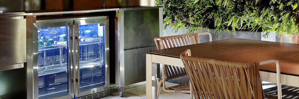 Kühlschrank Für Die Outdoor Küche Und Den Garten
