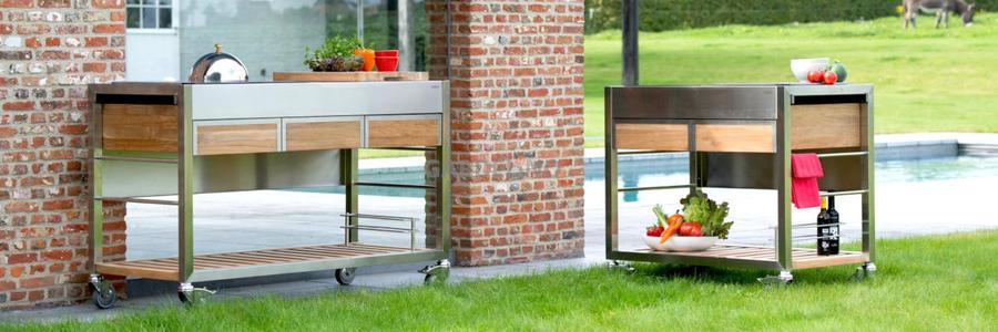 Mobile Outdoorküchen für den Garten und die Terrasse
