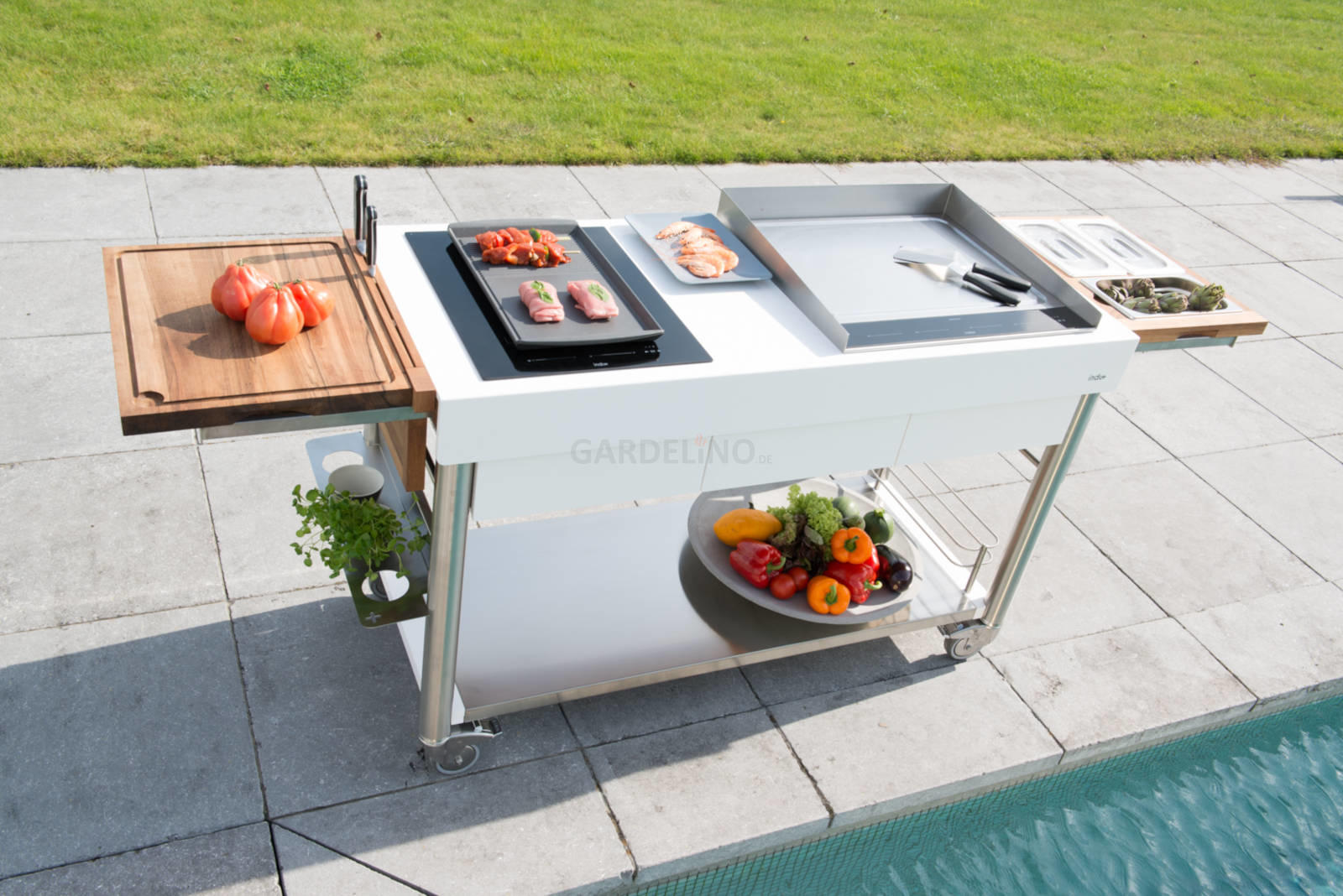 Outdoor Küche Rollbar : Mobile outdoorküchen für garten und terrasse