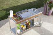 Mobiler Outdoorküchen Trolley mit Plancha Grill
