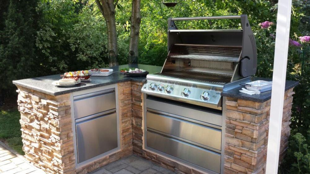 Outdoorküche Bausatz Günstig : Outdoorküchen systeme für den außenbereich