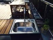 Spüle für die Outdoor Küche