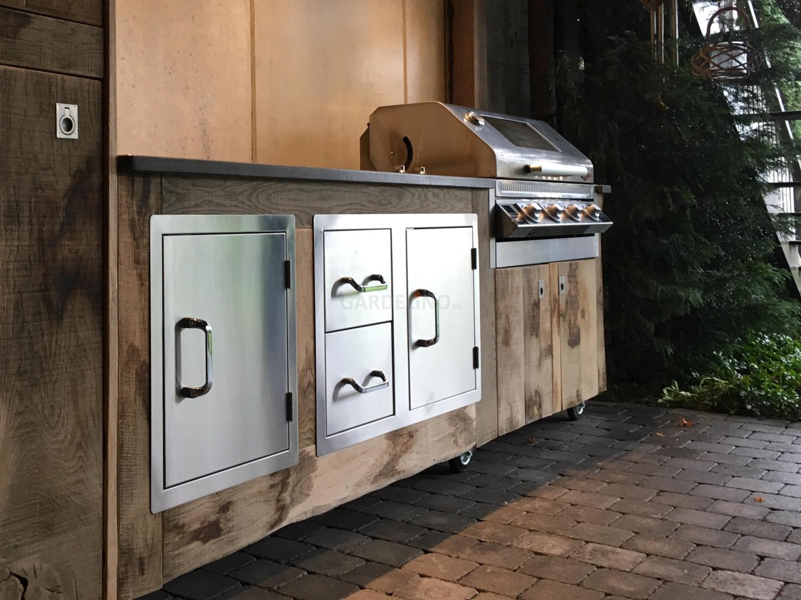 outdoor k che bauen t ren schubladen. Black Bedroom Furniture Sets. Home Design Ideas