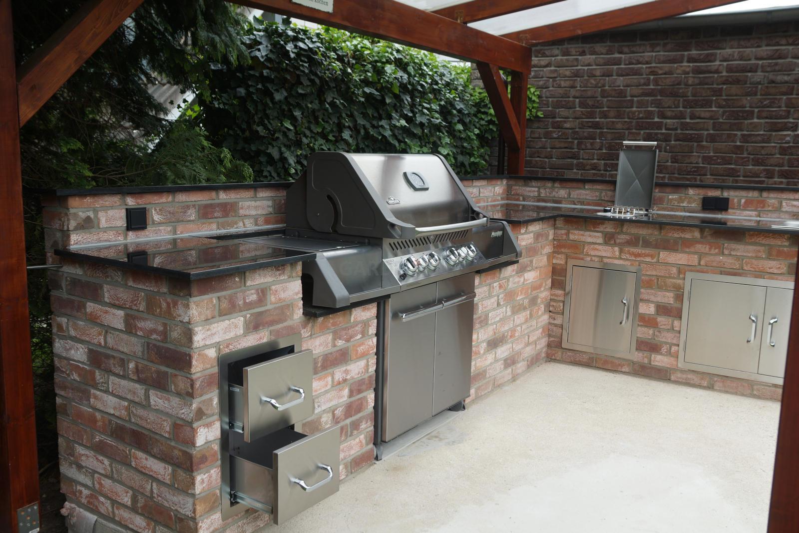 Gasgrill In Outdoor Küche Integrieren : Einbau gasgrill für die outdoor küche