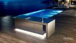 Fesfoc Outdoor Küche Edelstahl am Swimming Pool