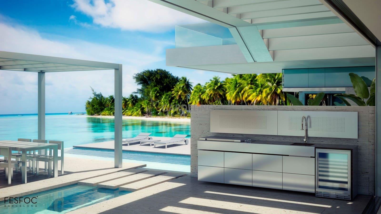 Outdoor Küche Edelstahl Mit Kühlschrank : Fesfoc outdoor küche aus edelstahl nach ihrem design