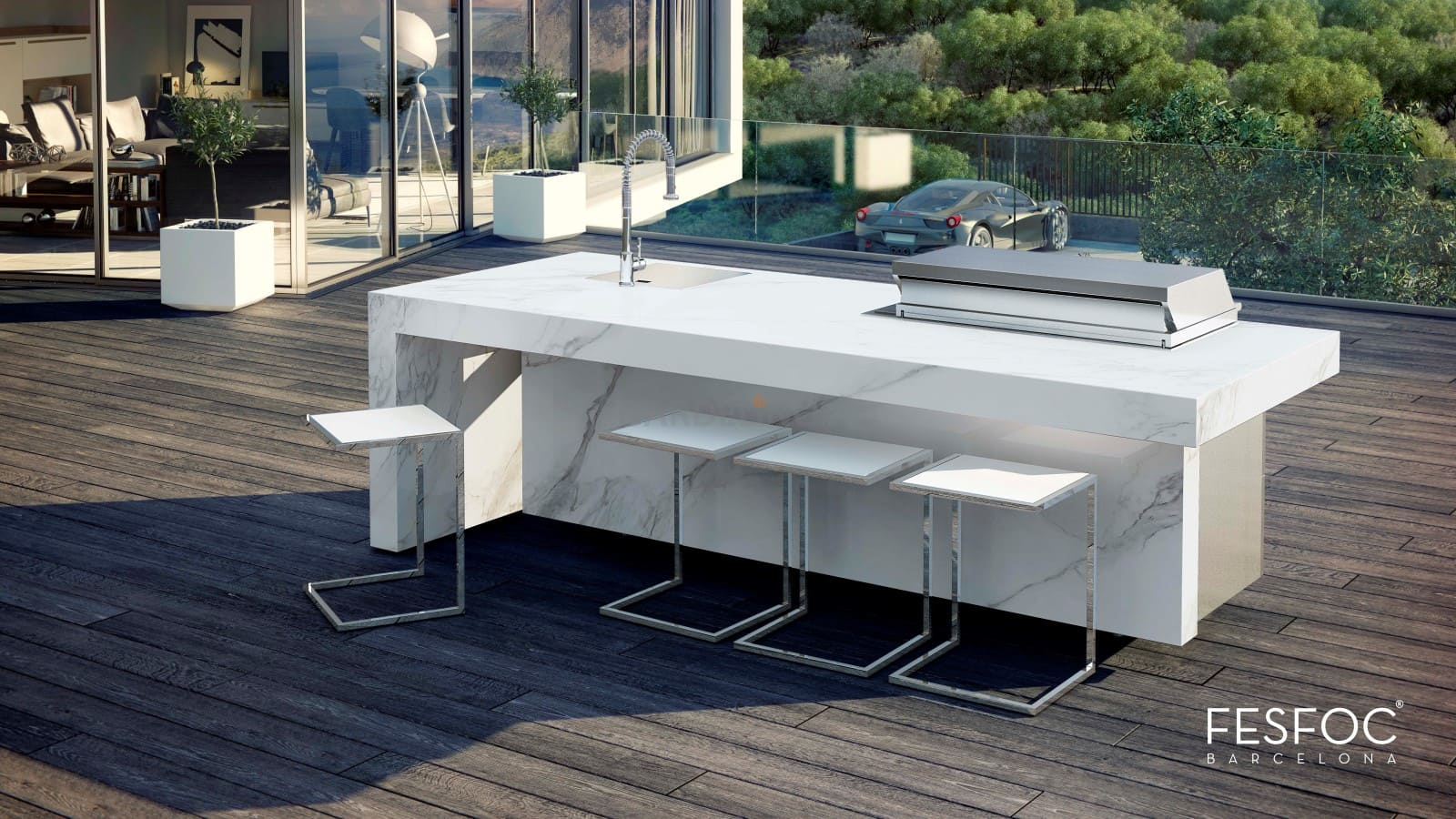 Outdoor Küche Edelstahl Zubehör : Fesfoc outdoor küche aus edelstahl nach ihrem design