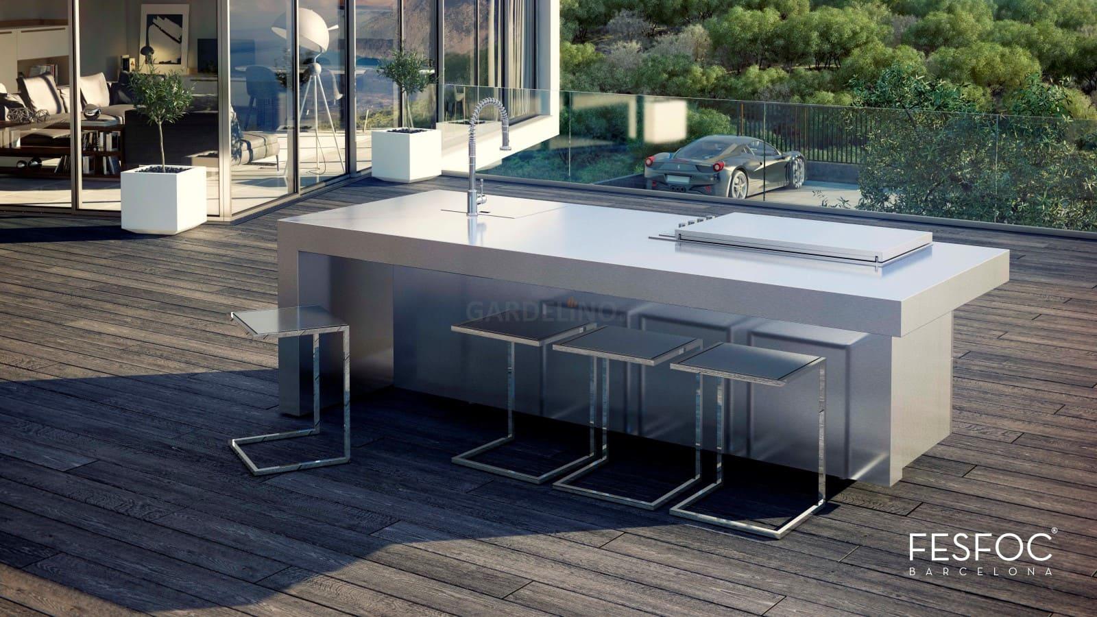 Outdoorküche Mit Spüle Zubehör : Fesfoc outdoor küche aus edelstahl nach ihrem design