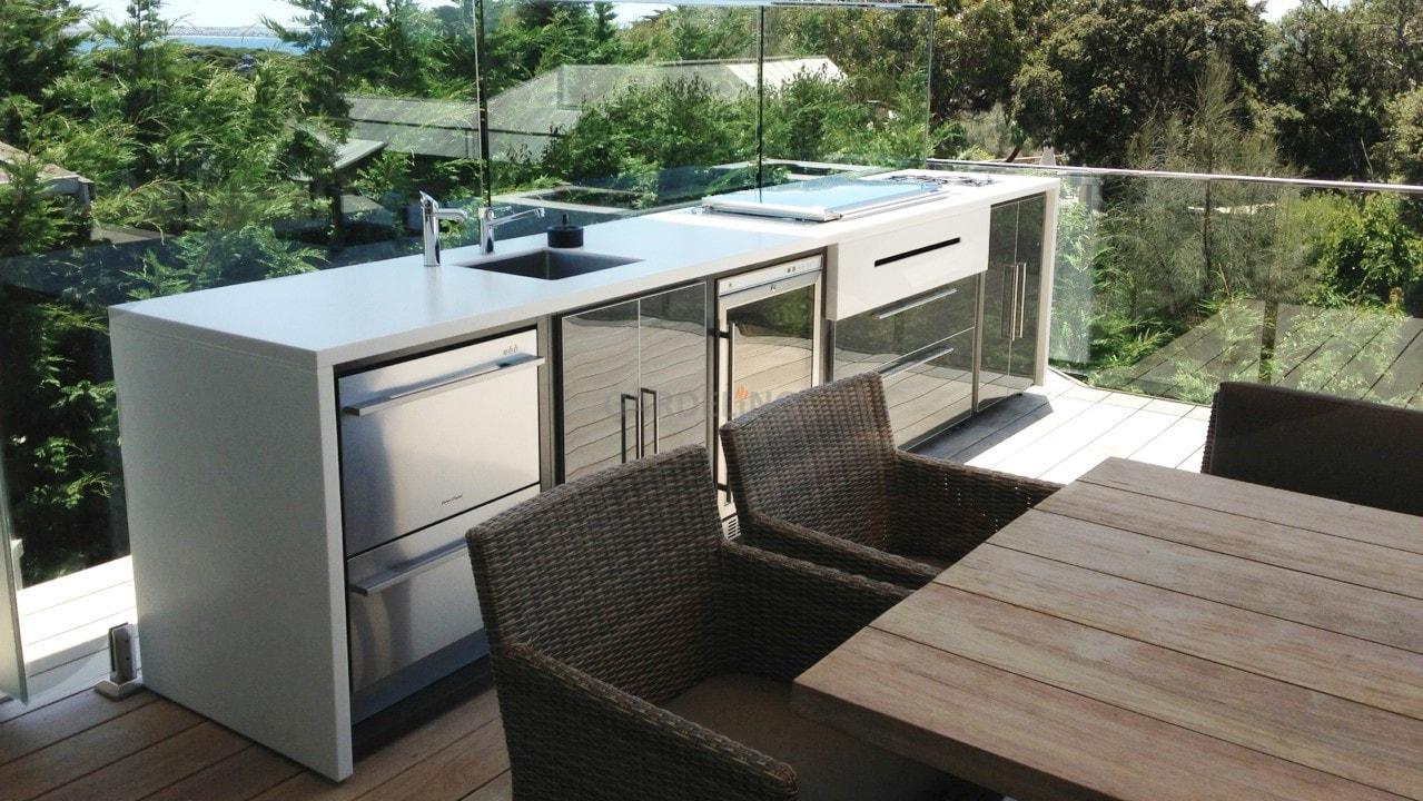 Outdoor Küche Dachterrasse : Moderne outdoor küche von fresco frames