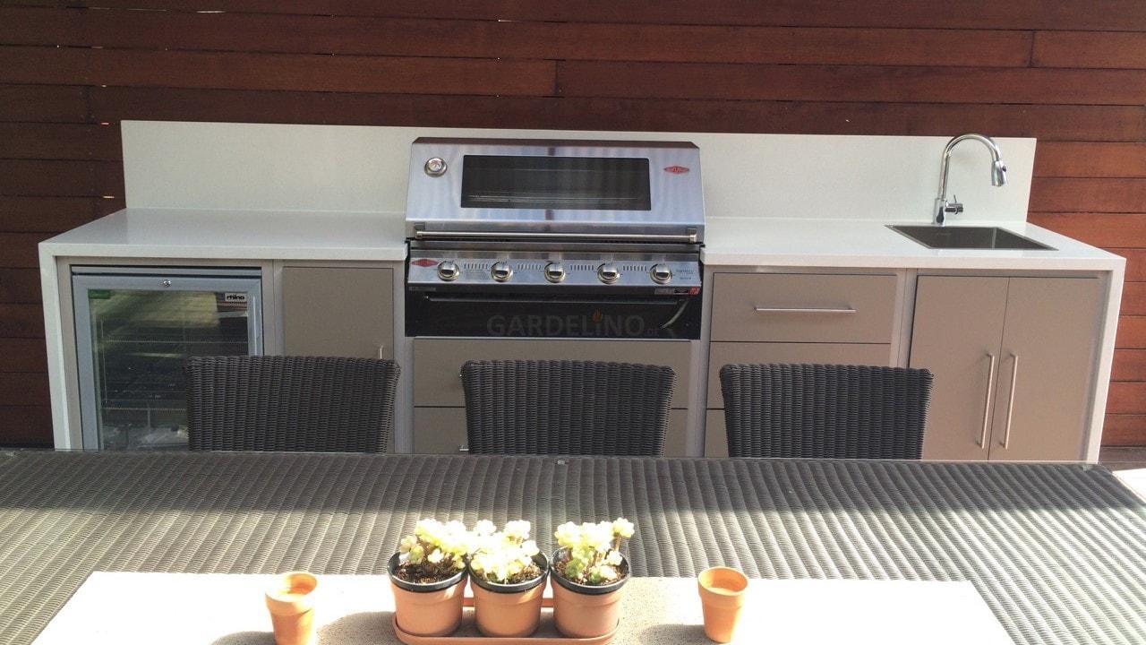 Einbau Gasgrill Outdoor Küche : Weber grill in outdoor küche integrieren küche kostenlos