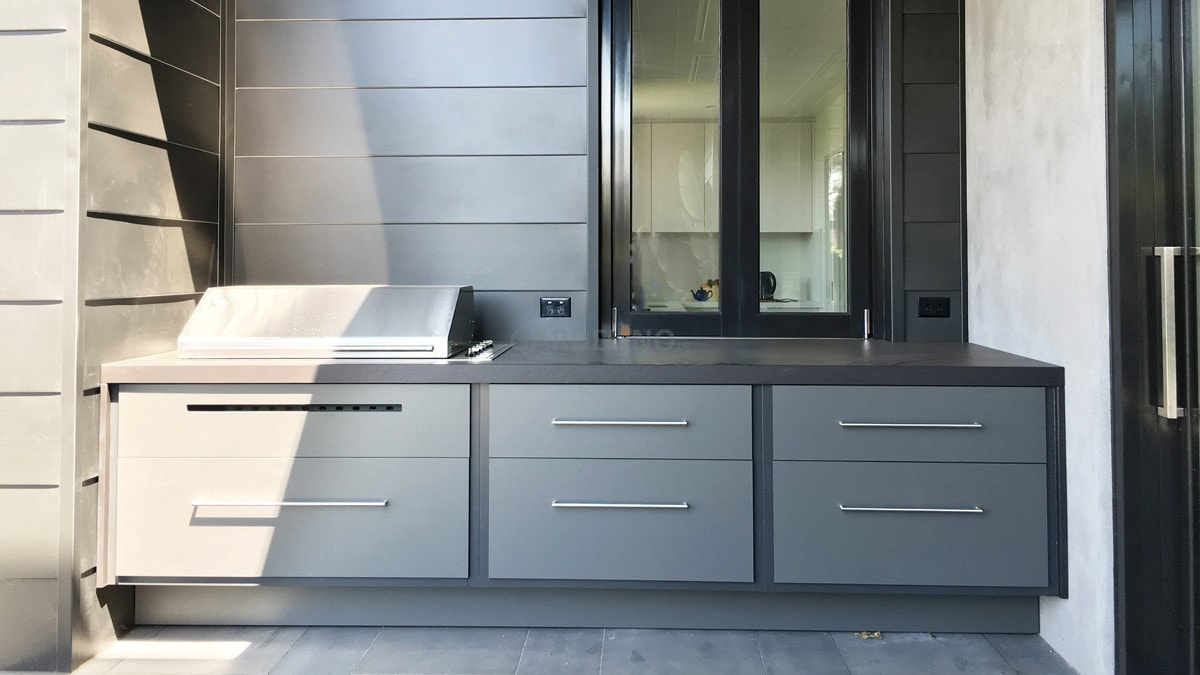 moderne outdoor k che von fresco frames. Black Bedroom Furniture Sets. Home Design Ideas