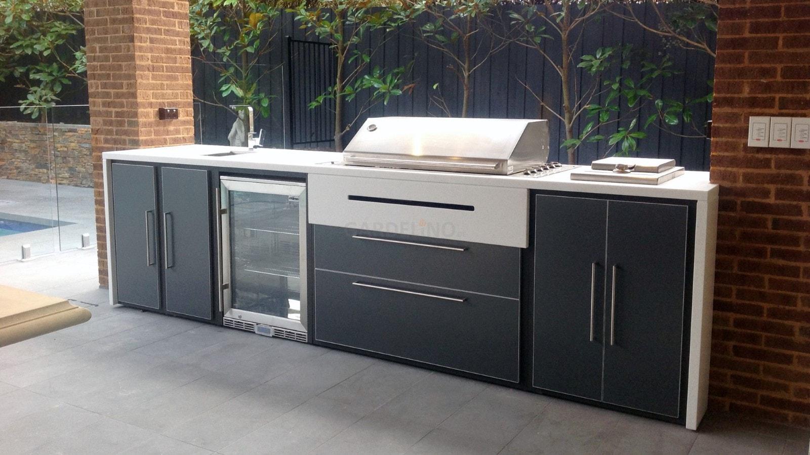 Outdoor Küchen Module : Gabionen outdoor küche outdoor küche modul arbeitsfläche schmal