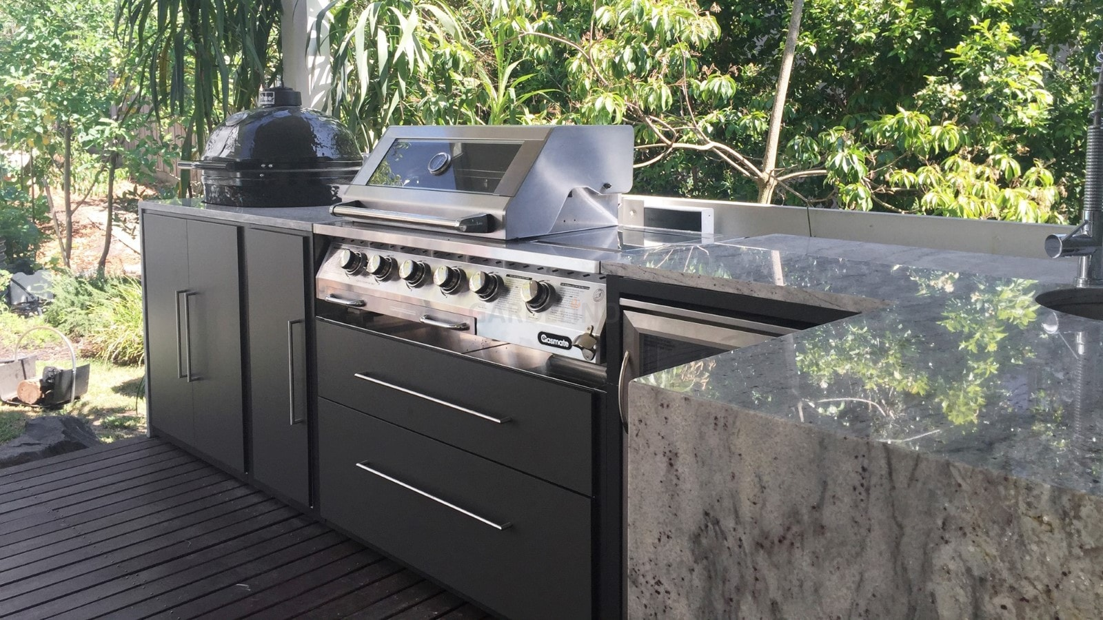 Einbau Gasgrill Outdoor Küche : Moderne outdoor küche von fresco frames