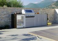 Signature 4 Quatro Outdoor Küche von Profresco mit BeefEater S3000S Grill und Kühlschrank