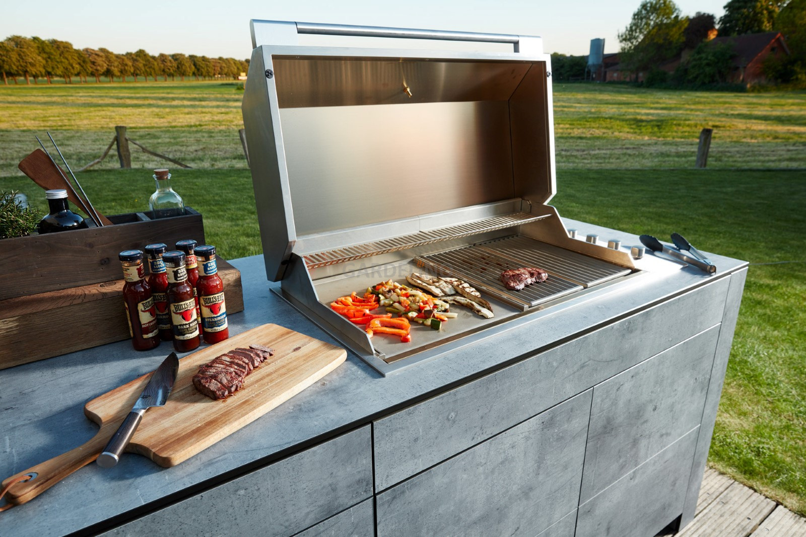 Outdoorküche Mit Gasgrill Cover : Bbqtion outdoor küche von village garden