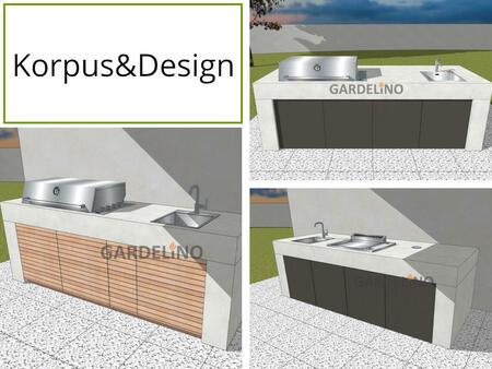 Korpus und Design der vivandio Outdoor Küche Pure