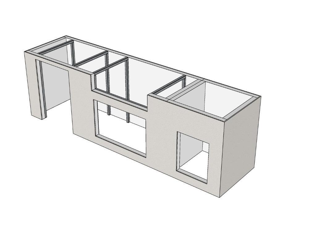 Outdoor Küche bauen mit System - Modulbasis