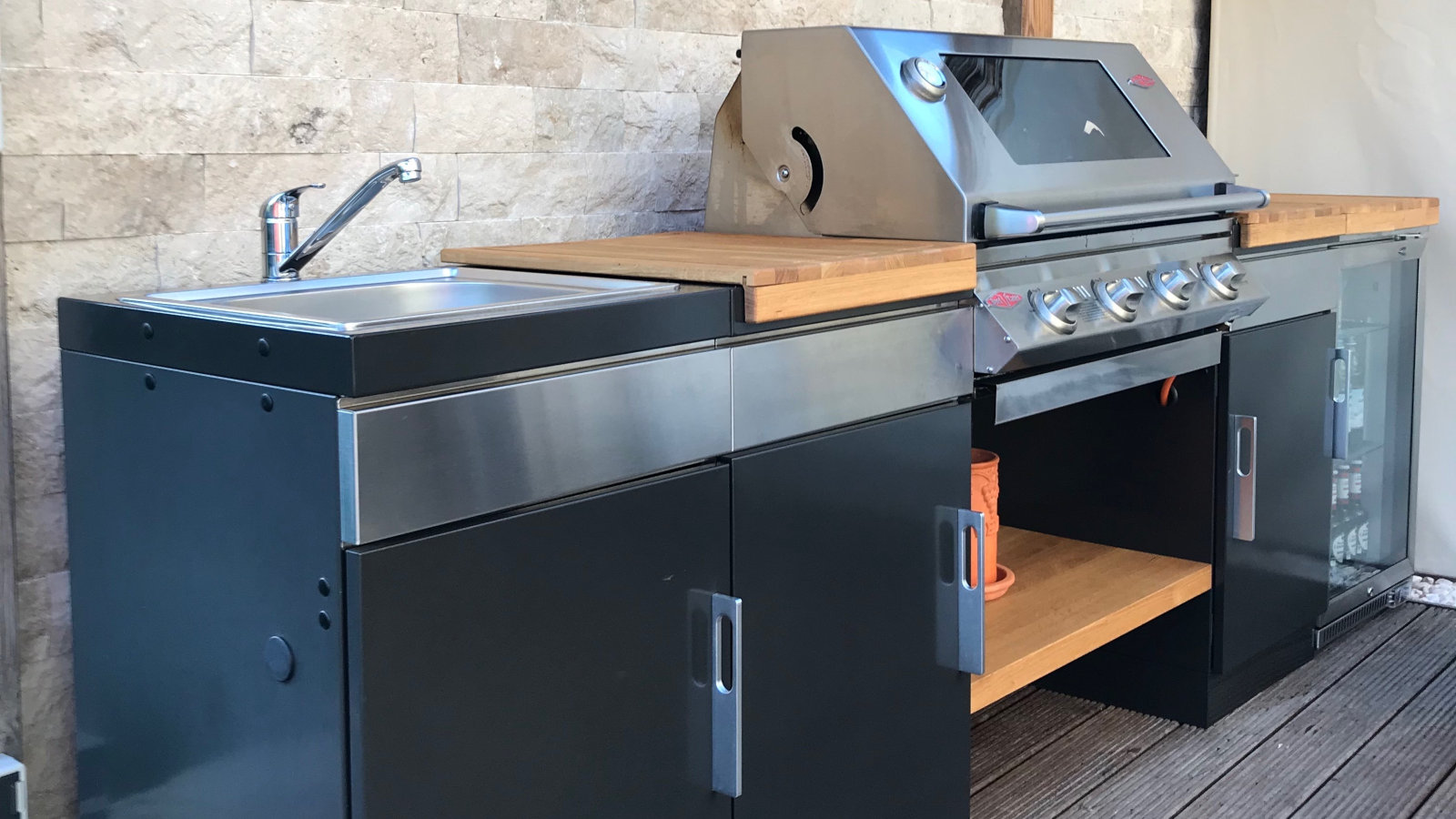 Outdoor Küche Edelstahl Vergleich : Beefeater 1100 outdoorküche traumküche bauen mit gardelino.de