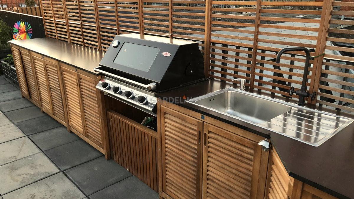 Outdoor Kuche Holz Kchen Selber Bauen Aus Holz Fliesen Verkleiden
