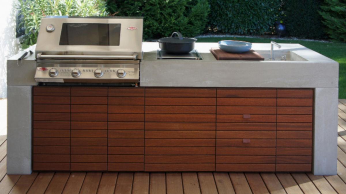Outdoorküche Mit Kühlschrank Anleitung : Design outdoorküche mit sichtbeton von dade design