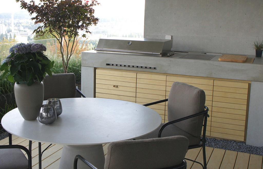 Outdoorküche Zubehör Jobs : Design outdoorküche mit sichtbeton von dade design