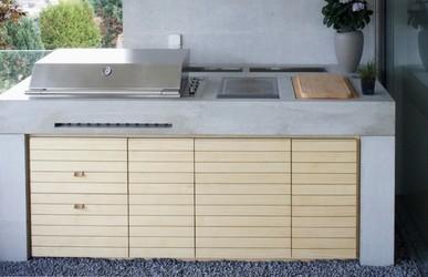 Beton Outdoor Küche mit Fulgor Gasgrill