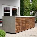Herrenhaus Outdoor Küche Cubic mit Holz