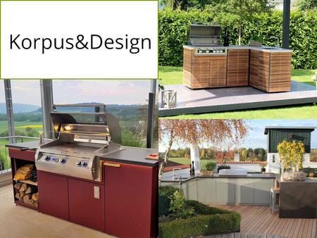Korpus und Design der Herrenhaus Cubic Outdoor Küche