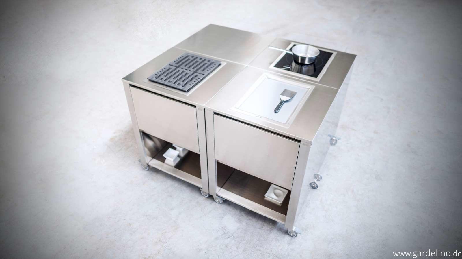 Outdoorküche Edelstahl Vergleich : Mobile outdoorküche cun von jokodomus system outdoorküche