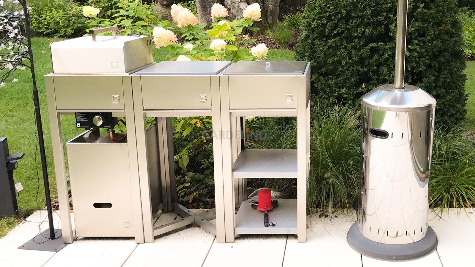 Outdoorküche Garten Edelstahl Günstig : Garten lounge outdoor küche edelstahl spüle youtube