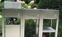 oneQ Outdoorküche in Edelstahl mit oneQ Flame Gasgrill