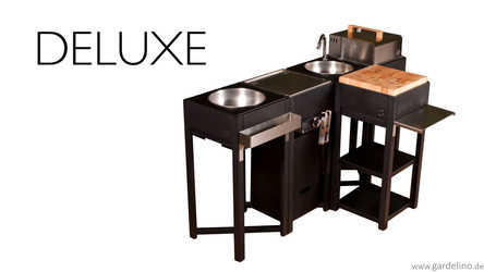Stellen Sie sich eine Deluxe Outdoorküche aus oneQ Modulen zusammen