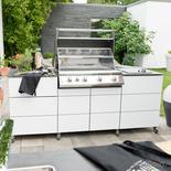 Gerade Outdoor Küchen Zeile von Outline
