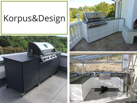 Korpus und Design der Outline Outdoor Küche