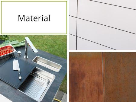 Material der System Outdoor Küche von Outline