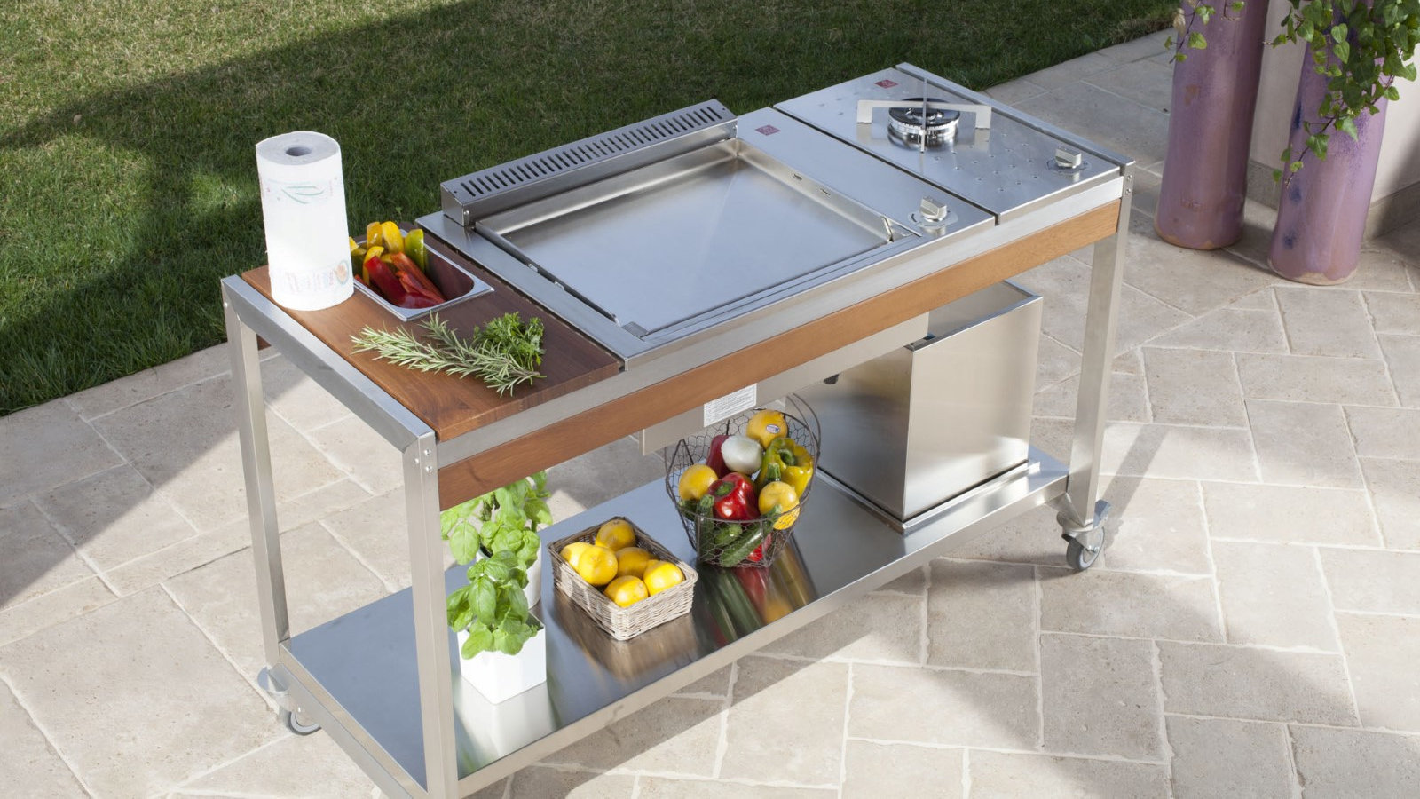 Outdoorküche Tür Preis : Modulare outdoorküche oasi von pla.net bei gardelino.de