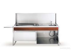Oasi 205 modulare Outdoo Küche von Pla.net Plancha mit Plancha Grill
